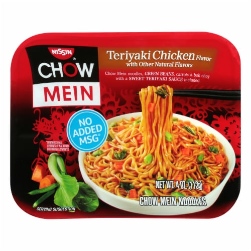 Nissin Chow Mein Teriyaki Chicken Flavor Noodles Perspective: front