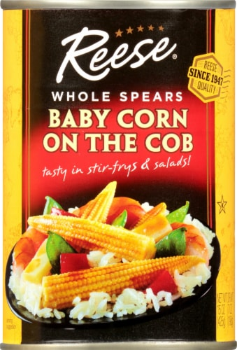 Reese Whole Spears Baby Corn On The Cob Perspective: front