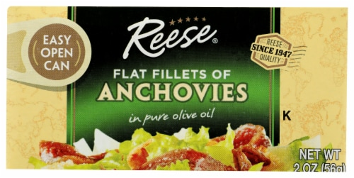Reese Flat Fillets of Anchovies in Puer Olive Oil Perspective: front
