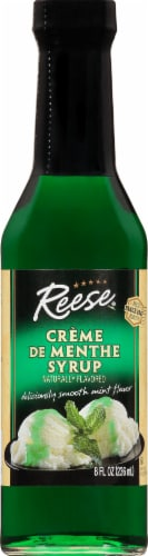 Reese Creme De Menthe Syrup Perspective: front