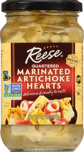Reese Quartered Marinated Artichoke Hearts Perspective: front