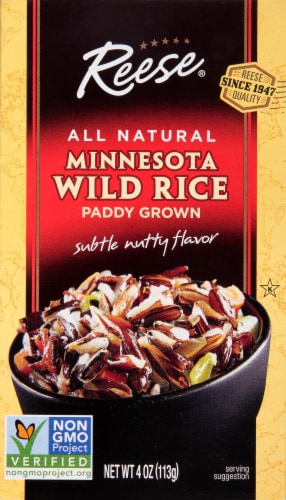 Reese All Natural Paddy Grown Minnesota Wild Rice Perspective: front