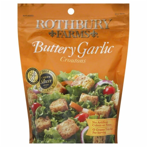Rothbury Buttery Garlic Croutons Perspective: front