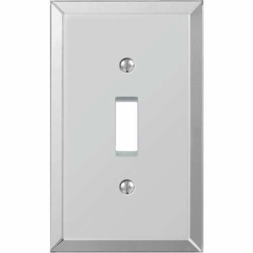 Amerelle 1-Gang Acrylic Beveled Mirror Toggle Switch Wall Plate 66T Perspective: front