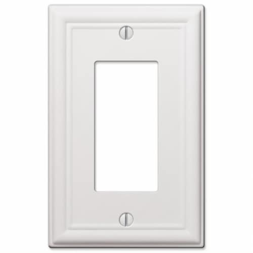 Amerelle Chelsea White Rocker Stamped Steel Wallplate Perspective: front