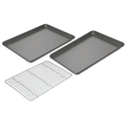 Chicago Metallic Baking Sheets with Cooling Rack Perspective: front