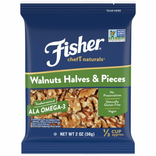 Fisher Chef's Naturals Walnuts Halves & Pieces Perspective: front