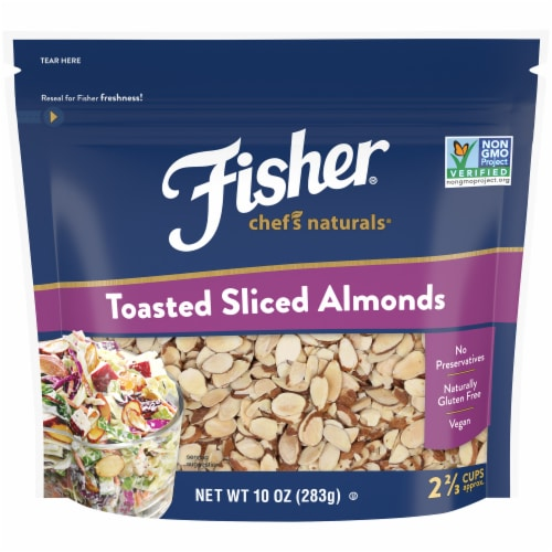 Fisher Chef's Naturals Toasted Sliced Almonds Perspective: front