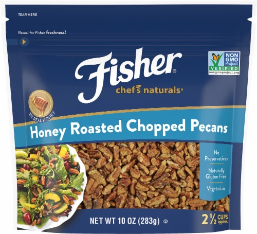 Fisher Chef's Naturals Honey Roasted Chopped Pecan Perspective: front