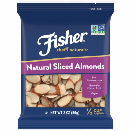 Fisher Chef's Naturals Sliced Almonds Perspective: front