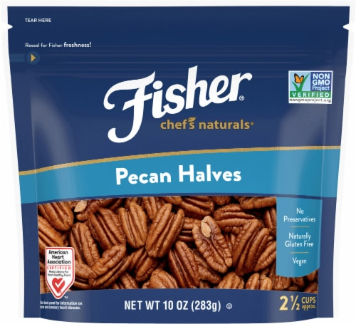 Fisher Chef's Naturals Pecan Halves Perspective: front