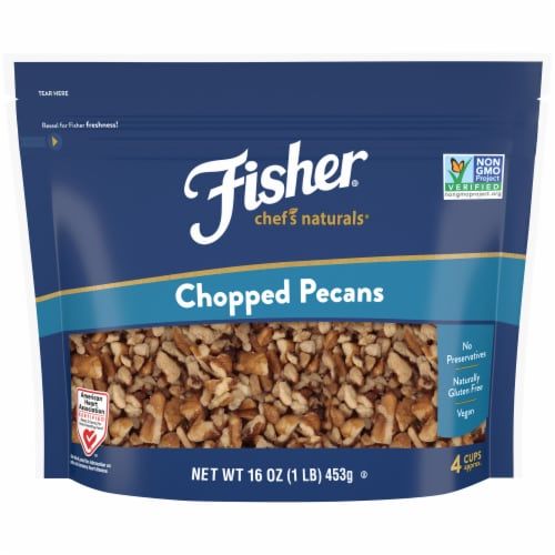 Fisher Chef's Naturals Chopped Pecans Perspective: front