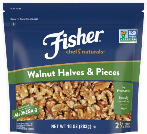 Fisher Chef's Naturals Walnut Halves & Pieces Perspective: front