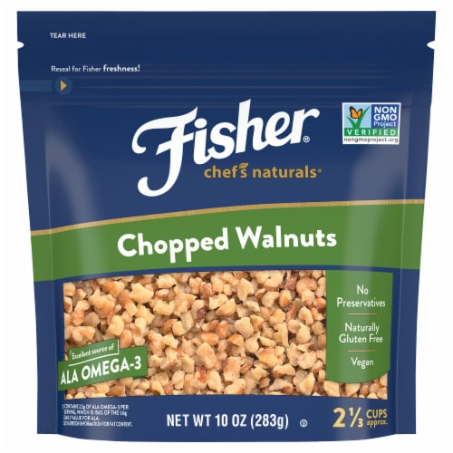 Fisher Chopped Walnuts Perspective: front