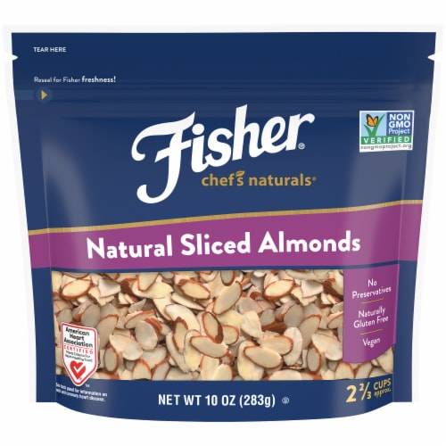 Fisher Chef's Naturals Natural Sliced Almonds Perspective: front