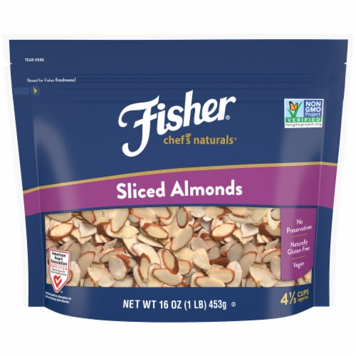 Fisher Natural Sliced Almonds Perspective: front