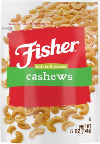 Fisher Cashew Halves & Pieces Perspective: front