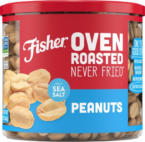 Fisher Oven Roasted Peanuts with Sea Salt Perspective: front