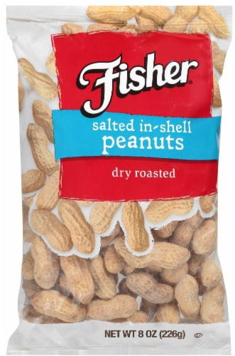Fisher Salted In Shell Peanut, 8 Ounce -- 36 per case. Perspective: front