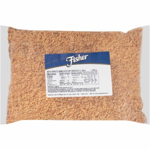 Fisher Dry Roasted Granulated Peanut, 5 Pound -- 1 each. Perspective: front