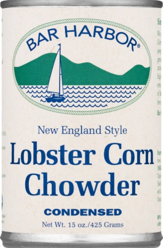 Bar Harbor New England Style Corn Chowder Lobster Perspective: front