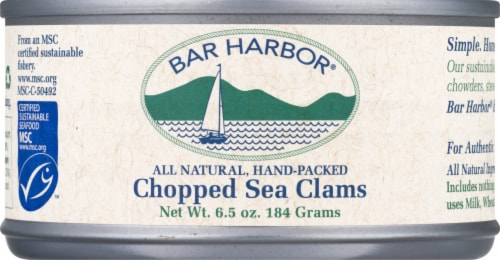 Bar Harbor Chopped Clams Perspective: front