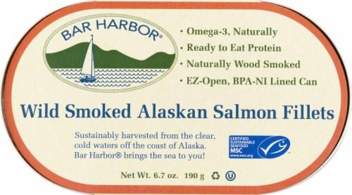 Bar Harbor Wild Smoked Alaskan Salmon Fillets Perspective: front