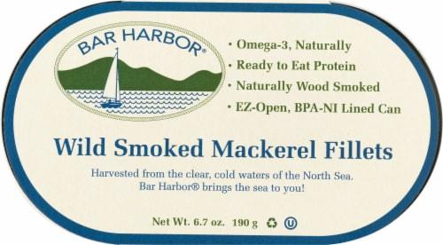 Bar Harbor Wild Smoked Mackerel Fillets Perspective: front
