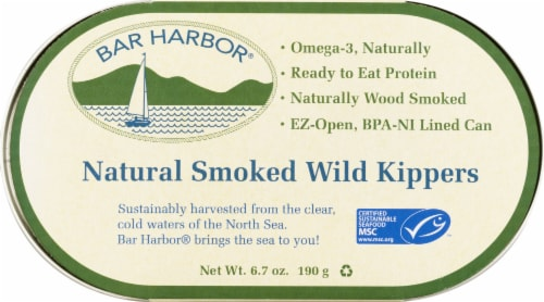 Bar Harbor Natural Smoked Wild Kippers Perspective: front