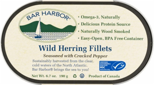 Bar Harbor Wild Herring Fillets with Cracked Pepper Perspective: front