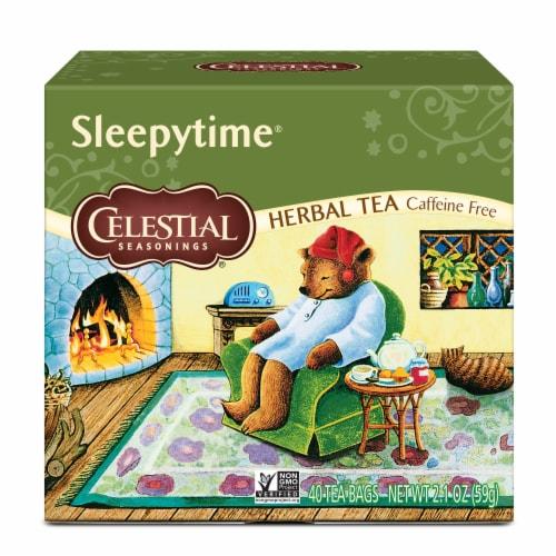 Sleepytime Celestial Seasonings Caffeine Free Herbal Tea Perspective: front