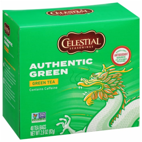 Celestial Seasonings Authentic Green Tea Tea Bags Perspective: front