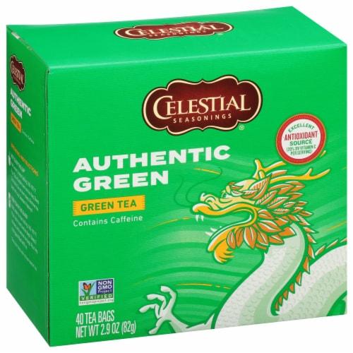 Celestial Seasonings Authentic Green Tea Tea Bags Perspective: front
