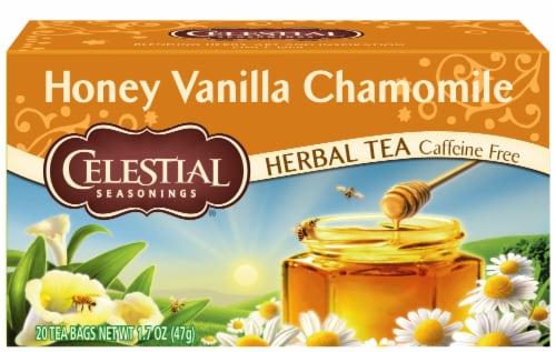 Celestial Seasonings  Honey Vanilla Chamomile Herbal Tea Bags Perspective: front