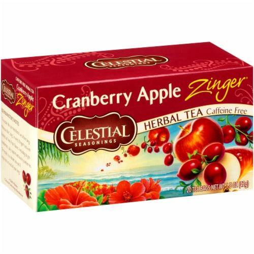 Celestial Seasonings Cranberry Apple Zinger Tea Bags Perspective: front