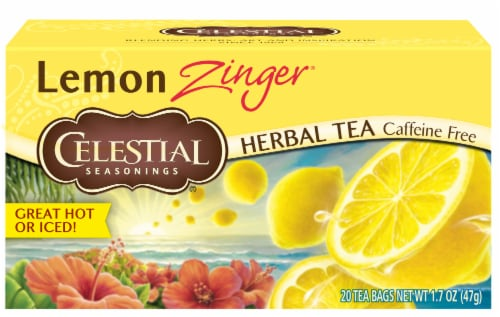 Celestial Seasonings Lemon Zinger Herbal Tea Bags Perspective: front