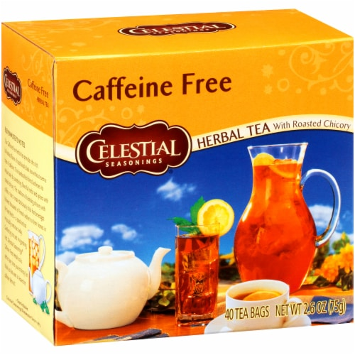 Celestial Seasonings Caffeine-Free Herb Tea Bags 40 Count Perspective: front