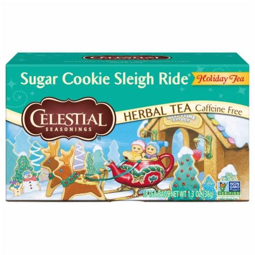 Celestial Seasonings Sugar Cookie Sleigh Ride Tea Bags 20 Count Perspective: front