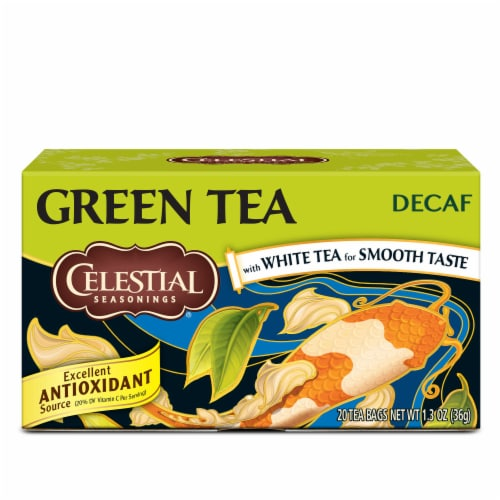 Celestial Seasonings Decaf Green Tea Bags Perspective: front