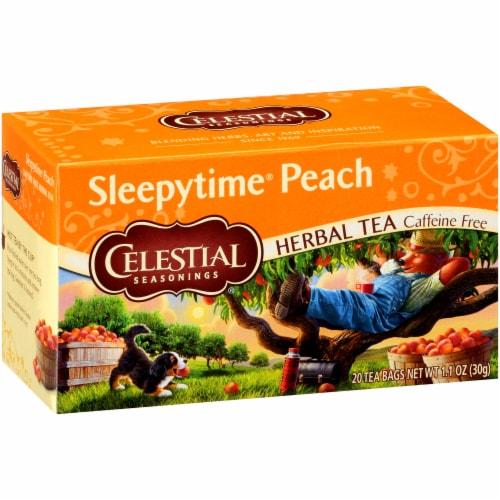 Celestial Seasonings Sleepytime Peach Herbal Tea Bags Perspective: front