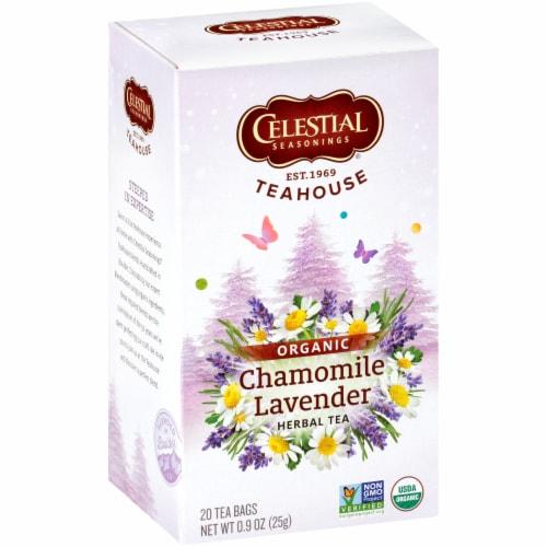 Celestial Seasonings Organic Chamomile Herbal Tea Bags 20 Count Perspective: front