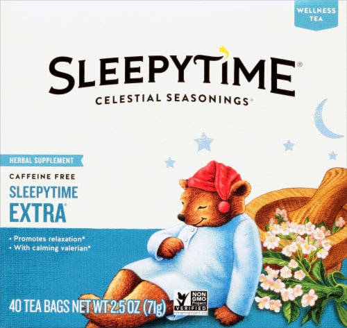 Celestial Seasonings Sleepytime Extra Herbal Wellness Tea Bags 40 Count Perspective: front