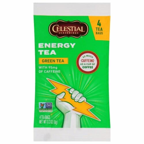 Celestial Seasonings Green Tea Energy Tea Perspective: front