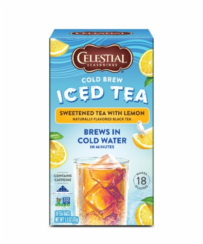 Celestial Seasonings® Sweetened with Lemon Cold Brew Iced Tea Perspective: front