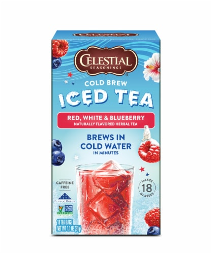 Celestial Seasonings® Red White and Blueberry Cold Brew Iced Tea Perspective: front