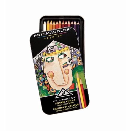 Prismacolor 002430 Premier Non-Toxic Soft Core Colored Pencil Set, Assorted Color, Set - 24 Perspective: front