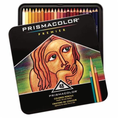 Prismacolor 002454 Premier Non-Toxic Soft Core Waterproof Colored Pencil Set, Assorted Color, Perspective: front