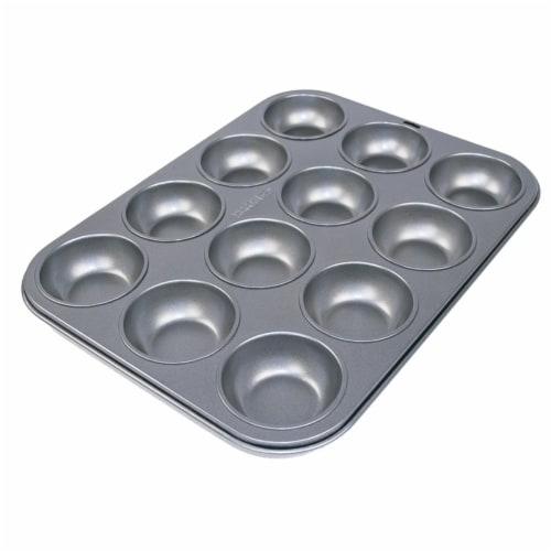 Range Kleen B14M12 12 Non-Stick Cup Muffin Pan Perspective: front
