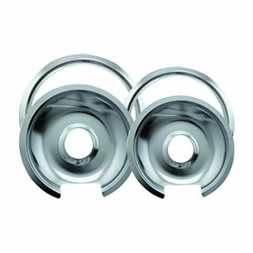 Range Kleen 1056R68GE4X Drip Pan & Trim Ring Chrome Perspective: front