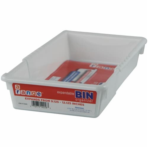 Range Kleen A13046S Small Expandable Bin, 6 x 9-12 in. Perspective: front